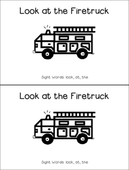 Fire Safety Sight Word Booklet