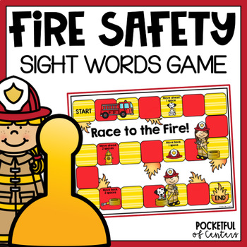 Fire Safety Sight Word Spelling Game