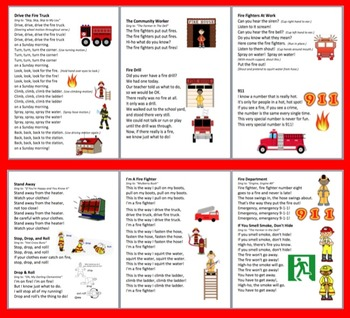 Fire Safety Poems, Songs, and Chants