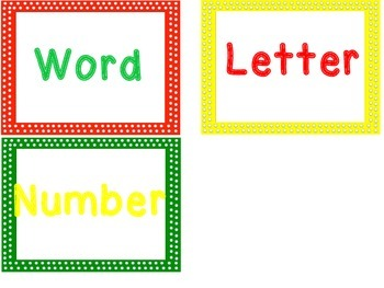 Fire Safety Sort:  Word, Letter, or Number?