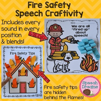 Fire Safety Speech Therapy Craft {Articulation Language Rules Craftivity}