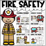 Fire Safety Stations! (3 Math + 3 Literacy)