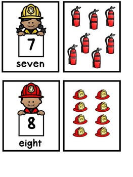 Fire Safety Subtraction And Memory Matching Cards