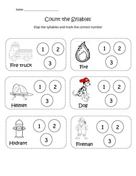 Fire Safety Syllable Count