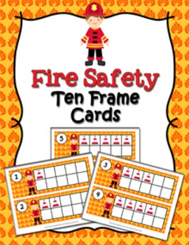 Fire Safety Ten Frame Cards