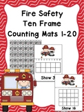 Fire Safety Ten Frame Counting Mats 1-20