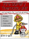 Fire Safety Thematic Unit Study