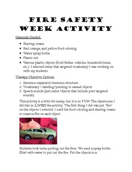 Fire Safety Theme Activity