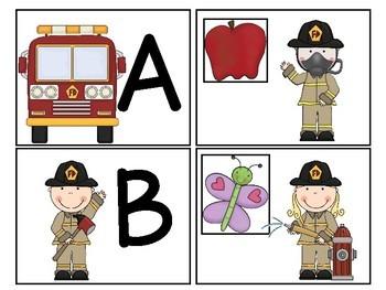 Fire Safety Themed Alphabet Match-Up