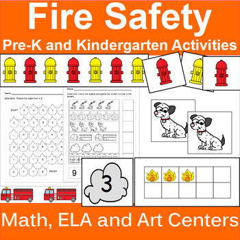 Fire Safety Themed Centers and Activities for PreK and Kindergarten