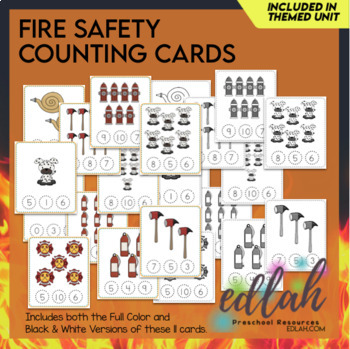 Fire Safety Themed Clothes Pin Number Game 0-10