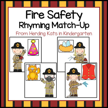 Fire Safety Themed Rhyming Match-Up