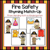 Fire Safety Rhyming Match-Up