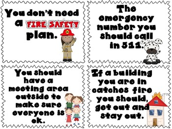 Fire Safety True & False Pocket Chart Activity with Bonus Printables