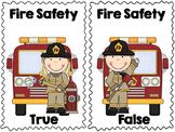 Fire Safety True & False Pocket Chart Activity with Bonus Printables