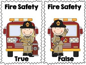 Fire Safety True & False Pocket Chart Activity with Bonus