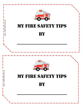 Fire Safety Unit - mini-book, sequencing, writing