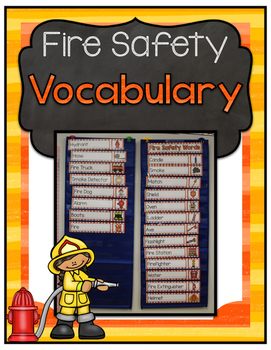 Fire Safety Vocabulary Cards