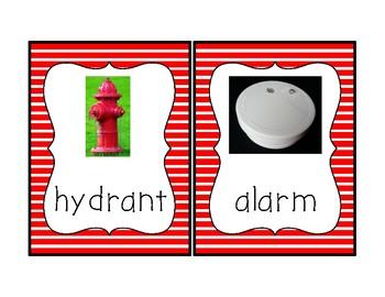 Fire Safety Vocabulary Cards