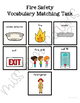 Fire Safety Vocabulary Folder Game for Special Education