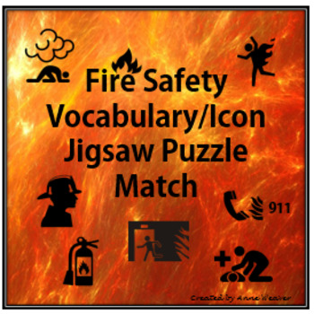 Fire Safety Vocabulary/ Icon Jigsaw Puzzle Match