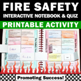 Fire Safety Activities, Back to School Interactive Notebook and Quiz