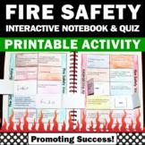 Fire Safety Activities, Interactive Notebook & Quiz
