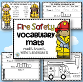 Fire Safety Week Vocabulary Mats