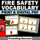 Fire Safety Rules, Vocabulary Task Cards for Fire Safety Unit