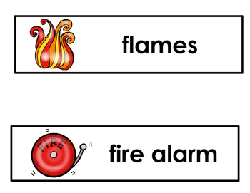 Fire Safety Vocabulary Word Cards