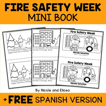Mini Book - Fire Safety Week Activity