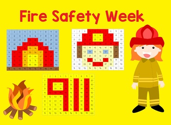 Fire Safety Week Hundreds Chart Bundle