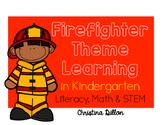 Kindergarten Fire Safety Themed Math and Literacy Activties