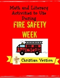 Fire Safety Week Math and Literacy Activities Christian Preschool, Kindergarten