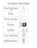 Fire Safety Word Bank