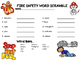 Fire Safety Word Scramble