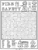 Fire Safety Word Search Activity