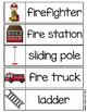 Fire Safety Word Wall - 30 cards two sizes plus vocabulary word chart