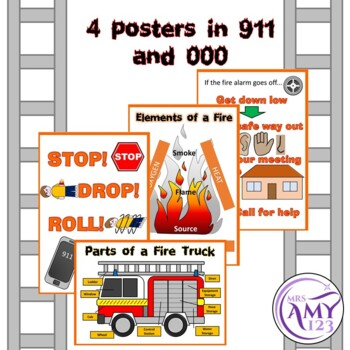 Fire Safety Word Wall and Posters- Great for Fire Prevention Week