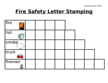 Fire Safety Words Stamping