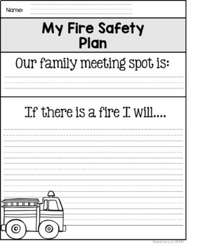 Fire Safety Worksheets (K-1) Fire Prevention Week