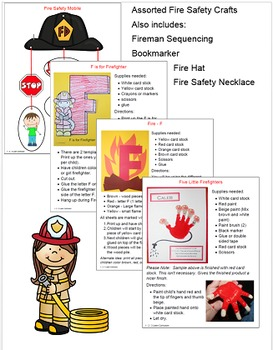 Fire Safety Worksheets and Crafts
