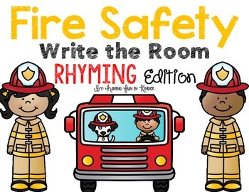 Fire Safety Write the Room - Rhyming Edition