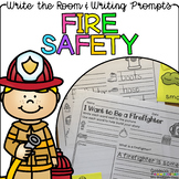Fire Safety - Write the Room Writing Prompts {Print on Cardstock/Post It Notes}
