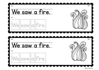 Fire Safety Writing - A Week of Writing Activities for Early Writers
