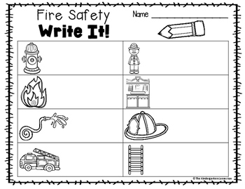 Fire Safety Writing Center Activities