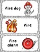 Fire Safety Writing Center Cards