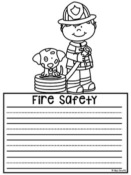Fire Safety Craft Activities (9 Fire Safety Writing Crafts NO Prep)