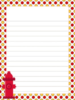 Fire Safety Writing Paper - 3 Styles