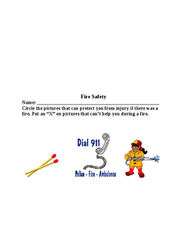 Fire Safety and Emergency Lesson for K-1